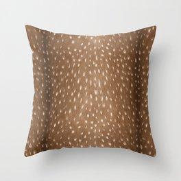 Deer Hide Throw Pillow