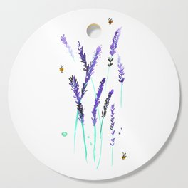 Lavender & Bees Cutting Board