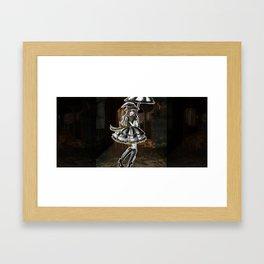 Hufflepuff Halloween Witch Framed Art Print