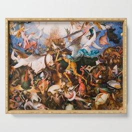 The Fall Of The Rebel Angels 1562 By Pieter Bruegel The Elder Serving Tray