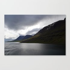 approaching iceland. Canvas Print