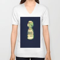 door V-neck T-shirts featuring door by gzm_guvenc