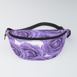 ROSES ROSES PURPLE AND LAVENDER ROSES DELIGHT Fanny Pack
