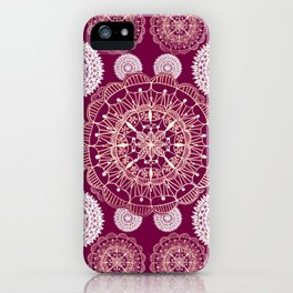 Berry and Bright Patterned Mandalas iPhone Case