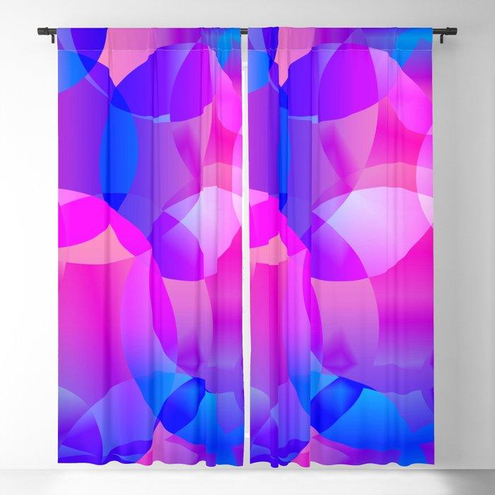Violet and blue soap bubbles. Blackout Curtain