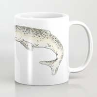narwhal Mugs featuring Narwhal by TheColorK