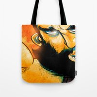 heavy metal Tote Bags featuring Heavy Metal by Toni Caputo