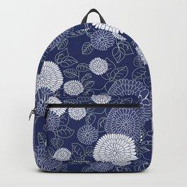 Indigo Chrysanthemums Backpack