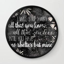 The Darkling Quote - Grisha - Nikoli Wall Clock