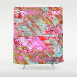 Confidence - Abstract, textured oil painting Shower Curtain