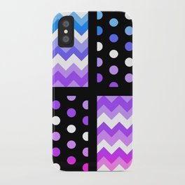 Multi-Color Gradient Chervon/Polkdot Pillow 1 iPhone Case