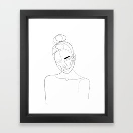 Lined Look Framed Art Print