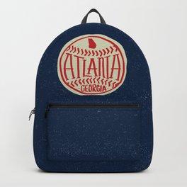 Atlanta Georgia Baseball - Hand Drawn, Script Typography Backpack