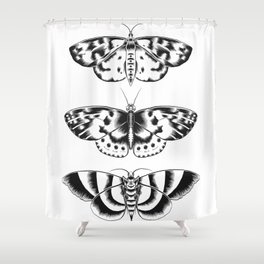 Moth Tryptic Shower Curtain