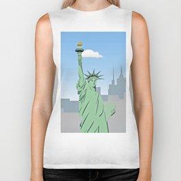 """Statue of Liberty "" NYC Biker Tank"
