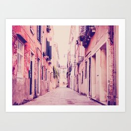 Narrow Venice Street Fine Art Print Art Print