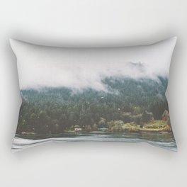 Foggy Vancouver Island, BC Rectangular Pillow
