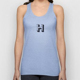 The Alphabetical Stuff - H Unisex Tank Top