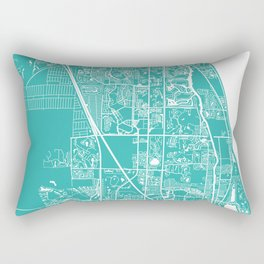 Jupiter FL map turquoise Rectangular Pillow