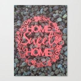 Paper-cut Home sweet home Canvas Print