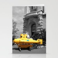 yellow submarine Stationery Cards featuring yellow submarine  by 33bc