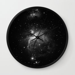 Galaxy (Black and White) Wall Clock