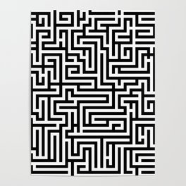 Black and white Labyrinth Poster
