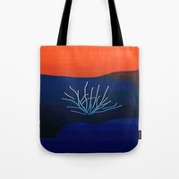 desert Tote Bags featuring Desert by lillianhibiscus