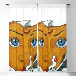 01PA11 | Marathi Woman | Beauty | Indian Woman | Abstract Painting | Artist Amiee Blackout Curtain