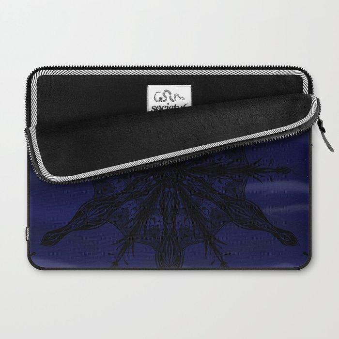 Gothic Snowflake Silhouette Laptop Sleeve