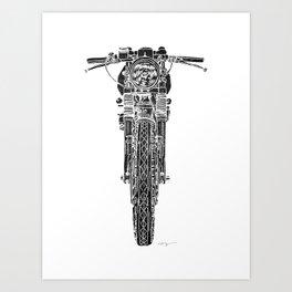 Vintage Italian 860 GTS Motorcycle Art Print