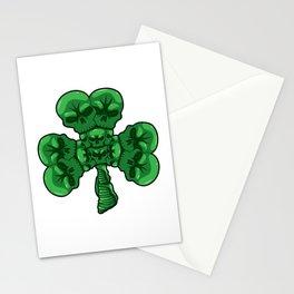 Cloverleaf Skull - St. Patrick's Day Luck Stationery Cards