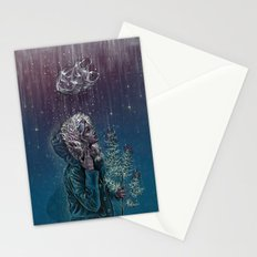 Blue Christmas Stationery Cards
