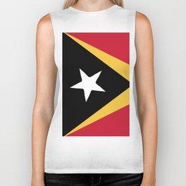 East Timor flag emblem Biker Tank