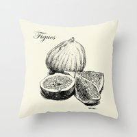 fig Throw Pillows featuring Fig by Benoit Springer
