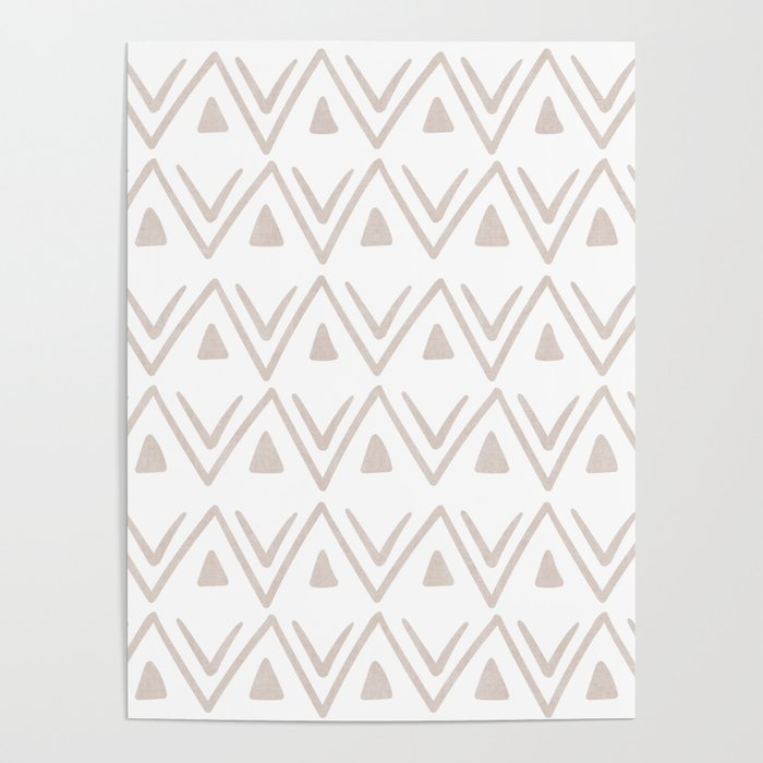 Etched Zig Zag Pattern in Tan