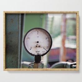 Broken pressure gauge Serving Tray