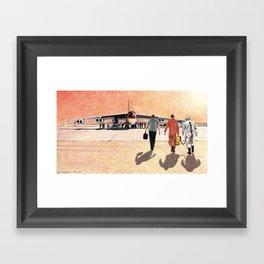 NB-52 and HL-10 pilot Framed Art Print