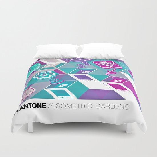 PLANTONE // Isometric Gardens Duvet Cover