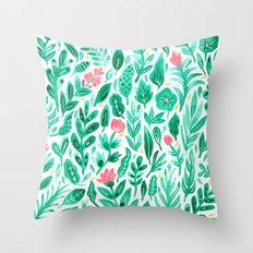 June Blooms Throw Pillow