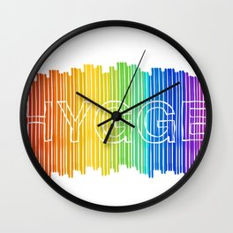 Hygge for All Wall Clock