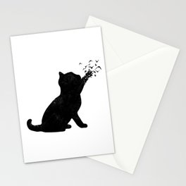 Poetic cat Stationery Cards
