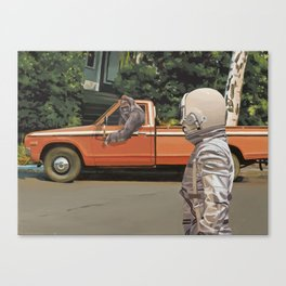 Decline of the Planet of the Apes Canvas Print