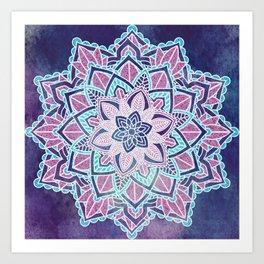 Mandala Spirit Flower Spiritual Zen Bohemian Hippie Yoga Mantra Meditation Art Print