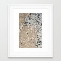 concrete Framed Art Prints featuring Concrete by Herzensdinge