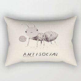 antisocial Rectangular Pillow