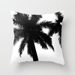 BlackPalmBeach Throw Pillow