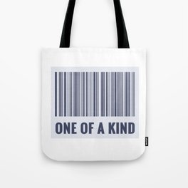 One of a kind - barcode quote Tote Bag