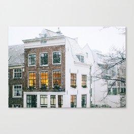 AMSTERDAM / Winter Cosiness Canvas Print