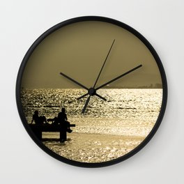 Sitting in the dock of a bay Wall Clock